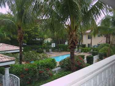 View of Pool from front door