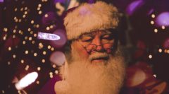 Santa Claus in the Park For Christmas