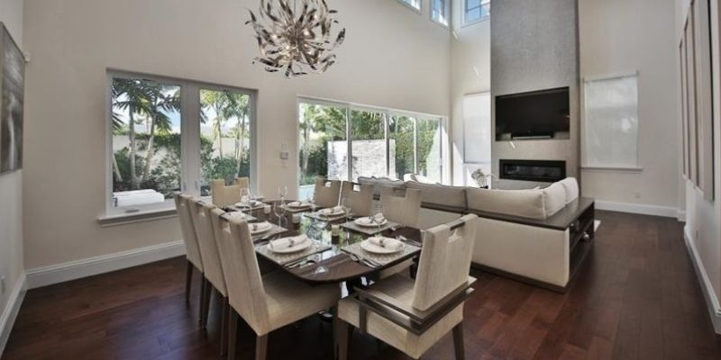 dining area and living space